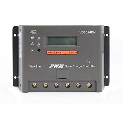 Epsolar Viewstar VS6024BN PWM Solar Charge Controller 60A 12/24V With LCD Display for Solar Battery Charging