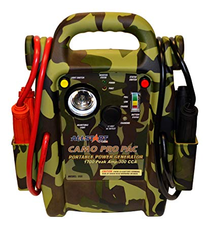 Cal-Van Tools Allstart 555 Camo Pro Pac Battery Jump Starter with AC Inverter