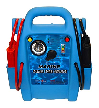 Allstart Tools 5569 Marine Battery Jump Starter with AC Inverter and 2 Pack Microfiber Cloth